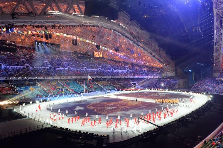 Những hình ảnh tuyệt mỹ trong lễ khai mạc Olympic Sochi 2014 16