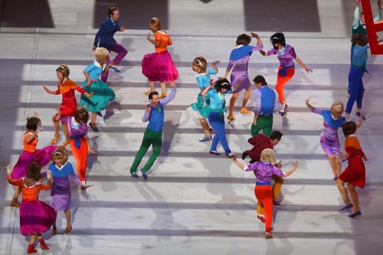 Những hình ảnh tuyệt mỹ trong lễ khai mạc Olympic Sochi 2014 6