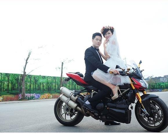 Mai Thỏ mặc váy cưới, cưỡi... motor 'khủng' 5