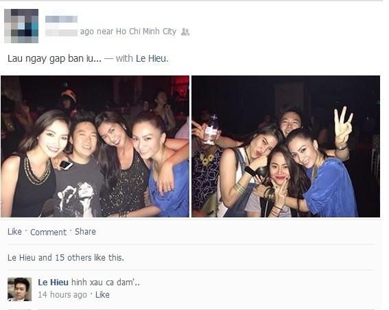 Hậu chia tay, Lê Hiếu vui vẻ đi bar với Tăng Thanh Hà  5