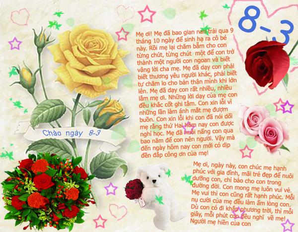 Thiệp 8/3 đẹp, ý nghĩa dành cho ngày Quốc tế phụ nữ 5