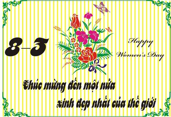 Thiệp 8/3 đẹp, ý nghĩa dành cho ngày Quốc tế phụ nữ 12