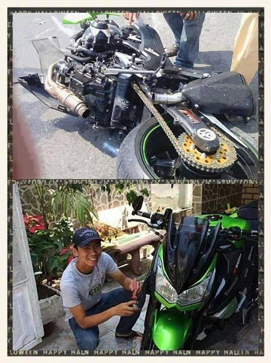 Hình ảnh Kawasaki Z1000 đầu tiên tử nạn tại Việt Nam số 2