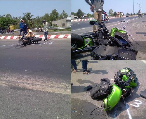 Hình ảnh Kawasaki Z1000 đầu tiên tử nạn tại Việt Nam số 1