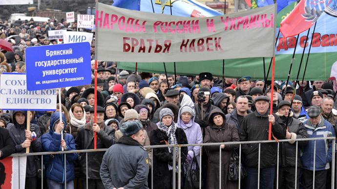Xem dân Nga tràn xuống đường biểu tình ủng hộ Ukraine 9