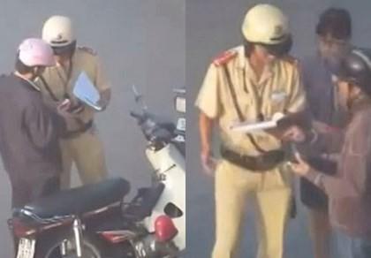 Buộc cảnh sát giao thông bị tố
