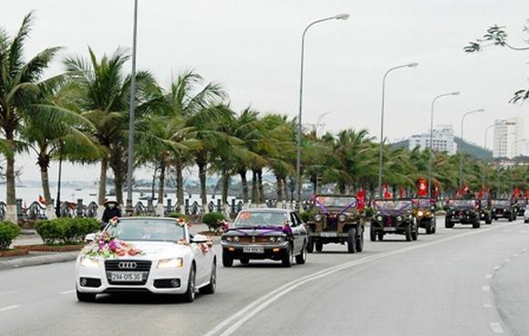 Độc: Đám cưới ở Quảng Ninh rước dâu bằng một dàn xe Jeep 8