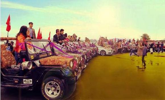 Độc: Đám cưới ở Quảng Ninh rước dâu bằng một dàn xe Jeep 15