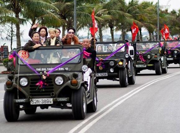 Độc: Đám cưới ở Quảng Ninh rước dâu bằng một dàn xe Jeep 5
