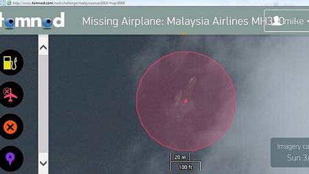 hình ảnh nghi xác máy bay mất tích trên vệ tinh - ảnh 1