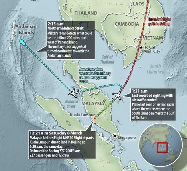 Malaysia tiết lộ vành đai bay của MH370 sau khi mất tích 6