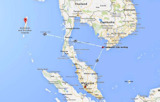Máy bay Malaysia mất tích có hạ cánh xuống quần đảo Andaman? 6