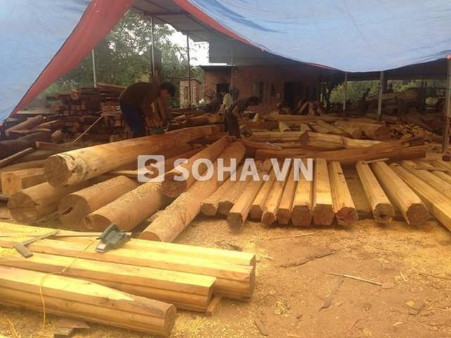 Choáng ngợp dinh thự đắt tiền toàn bằng gỗ của Vượng Râu 6