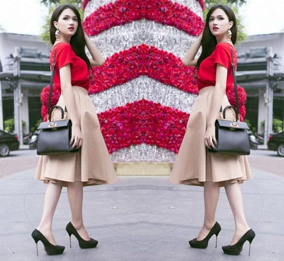 Chọn váy tôn nét nữ tính như Hương Giang Idol 6