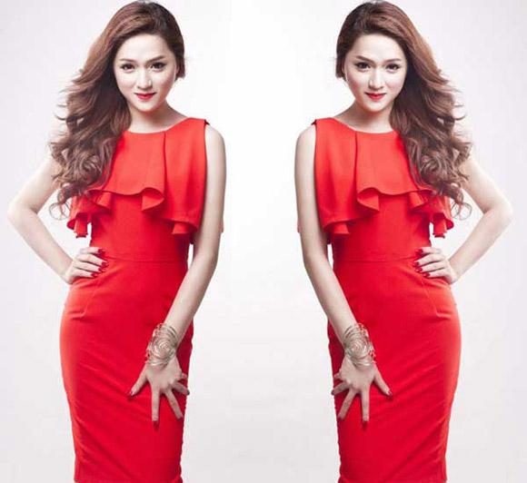 Chọn váy tôn nét nữ tính như Hương Giang Idol 17