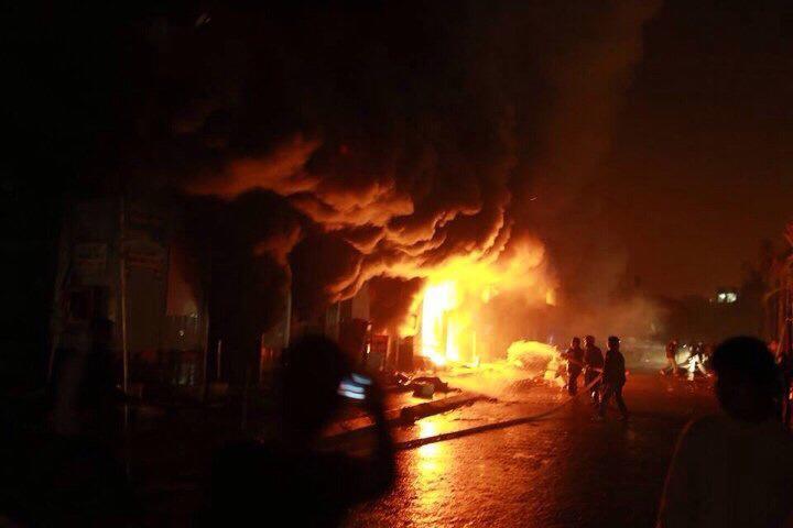 Cận cảnh Chợ Phố Hiến chìm trong biển lửa 5