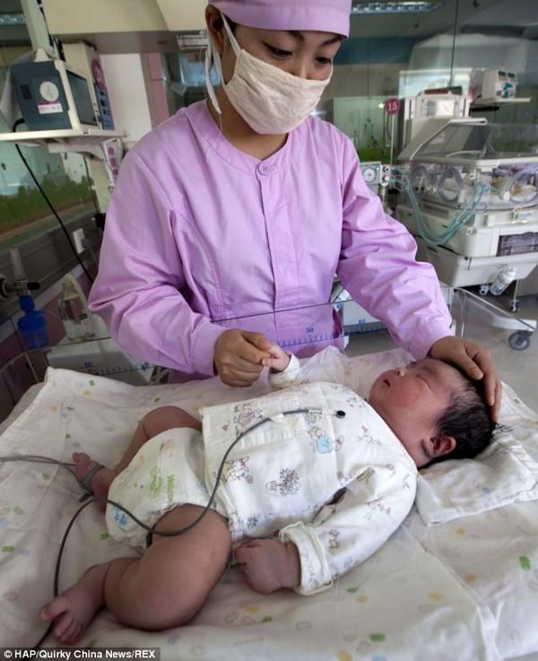 """Kinh ngạc với em bé sinh non """"khổng lồ"""" nặng 5,9kg tại Trung Quốc 6"""