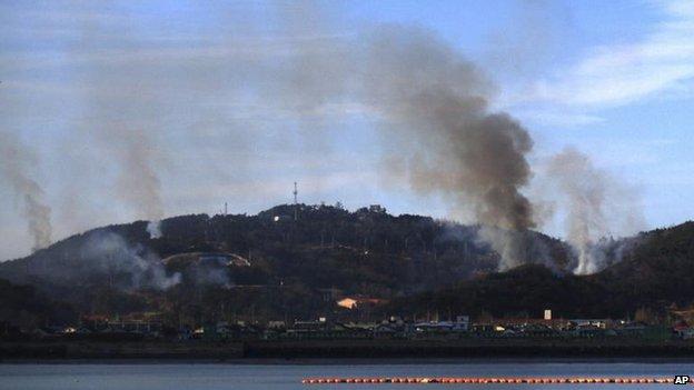 Hàn Quốc và Triều Tiên đọ pháo trên biên giới biển 5