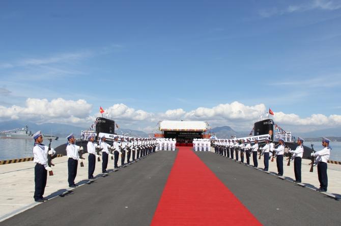 Cận cảnh lễ thượng cờ cấp quốc gia tàu ngầm Kilo HQ-182 và HQ-183 10