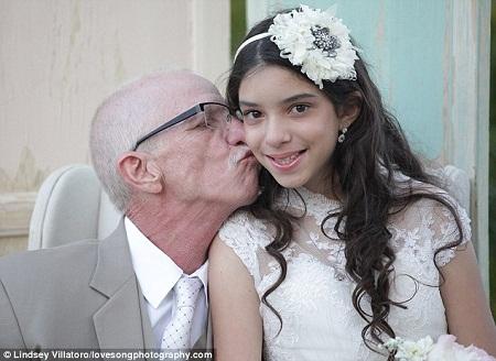 Rơi nước mắt đám cưới không có chú rể của cô dâu 11 tuổi