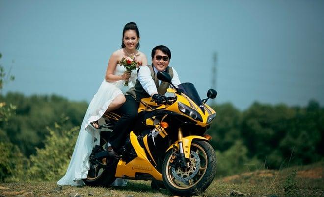Trọn bộ ảnh cưới 'độc' của cặp đôi mê mô tô phân khối lớn 8
