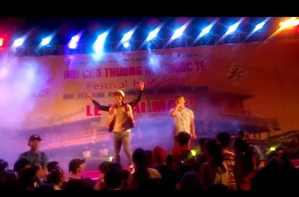 Hồ Quang Hiếu bị nam thanh niên