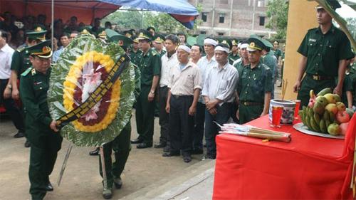Lễ truy điệu chiến sĩ Biên phòng hy sinh trong vụ nhóm người Trung Quốc xả súng 5