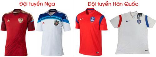 Ngắm mẫu áo của 32 đội tuyển tham dự World Cup 2014 20
