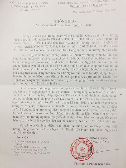 Vụ kiều nữ Hải Dương: Không có căn cứ khởi kiện hai tác giả của bài báo 6