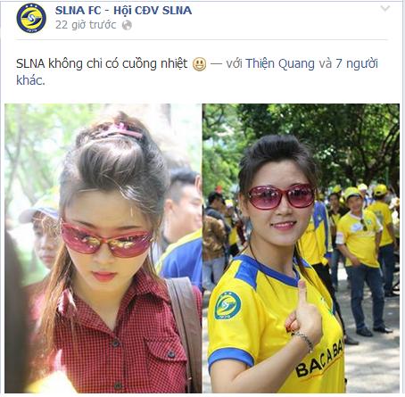 Fan nữ SLNA khiến cư dân mạng điên đảo 5