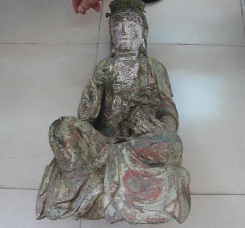 Đang làm đường, phát hiện hàng loạt tượng Phật cổ bằng đồng 6