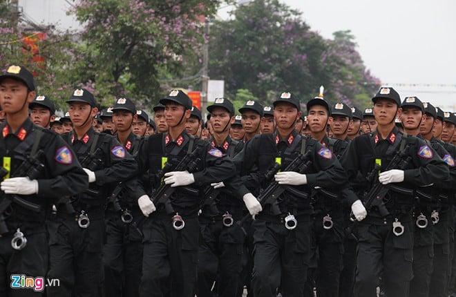 Sơ duyệt diễu binh Điện Biên Phủ ngoài đường phố 16