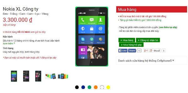 Nokia XL có giá chỉ 3 triệu đồng ở Việt Nam 6