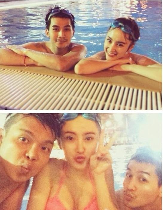 Angela Phương Trinh khoe cơ thể nuột nà bên bể bơi 8