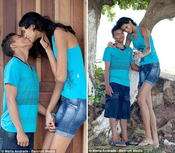 Chàng trai tí hon và cô gái khổng lồ nhất thế giới chính thức kết hôn 5