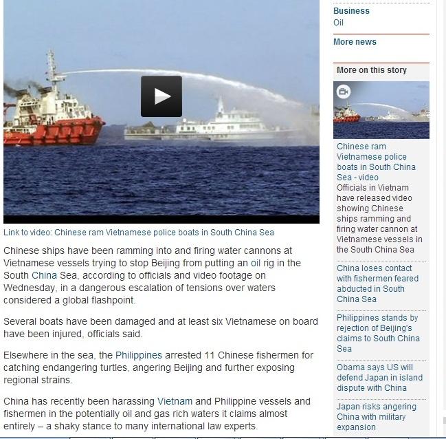 Báo Anh: Giàn khoan là bước đi khiêu khích nhất của Trung Quốc 7