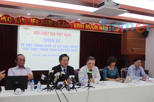 Giàn khoan TQ vào biển Việt Nam: Hội Luật gia VN ra tuyên bố cứng rắn 5