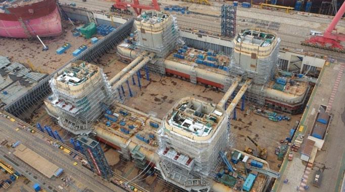 Cận cảnh người Trung Quốc xây dựng giàn khoan HD 981 6