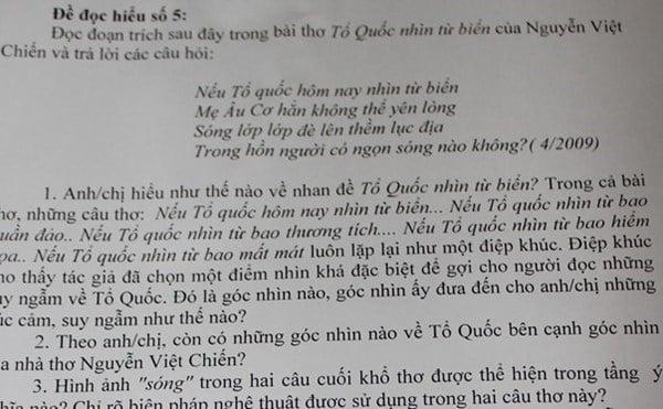 Giáo viên tâm sự về việc đưa vụ giàn khoan Hải Dương 981 vào đề văn 4