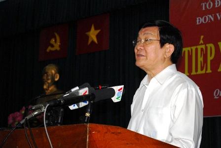 Chủ tịch nước Trương Tấn Sang: