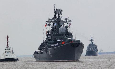 'Sát thủ tàu sân bay' Nga cập bến Thượng Hải, chuẩn bị tập trận chung với TQ 9