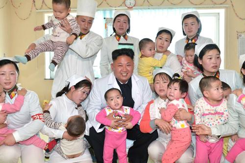 Đến thăm bệnh viện, Kim Jong-un
