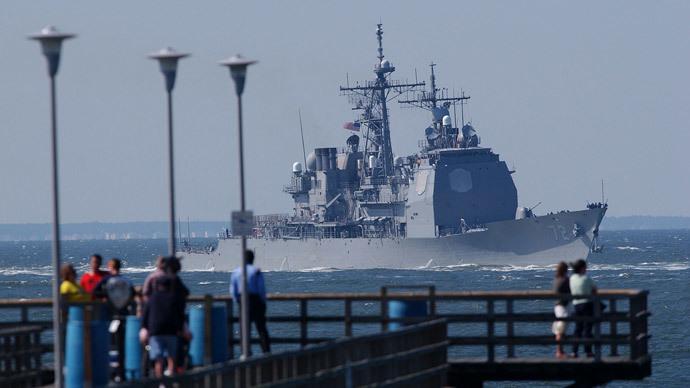 Tuần dương hạm Mỹ xuất hiện tại Biển Đen trước ngày bầu cử Tổng thống Ukraine 6