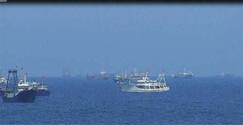 Trung Quốc tăng số tàu cá vỏ sắt gần giàn khoan Hải Dương 981 5