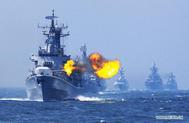 Tàu chiến Nga - Trung nã pháo trên biển, kết thúc cuộc tập trận chung 6
