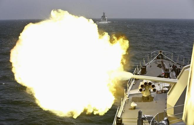 Tàu chiến Nga - Trung nã pháo trên biển, kết thúc cuộc tập trận chung 7