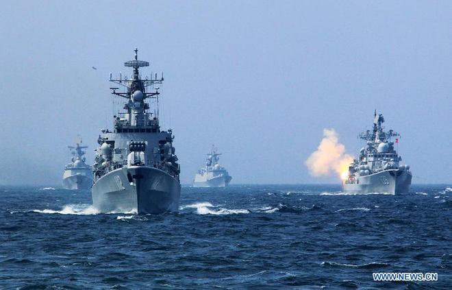 Tàu chiến Nga - Trung nã pháo trên biển, kết thúc cuộc tập trận chung 9