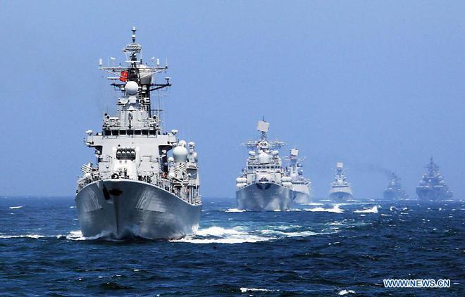 Tàu chiến Nga - Trung nã pháo trên biển, kết thúc cuộc tập trận chung 12