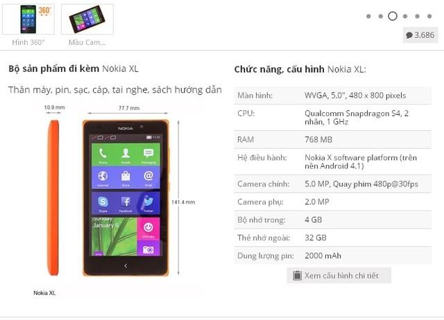 Nokia XL được bán với giá 3,7 triệu đồng tại Việt Nam 6