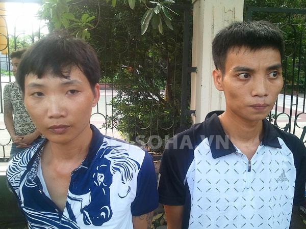 2 thanh niên dắt dao bầu sau lưng bị 141 bắt 5